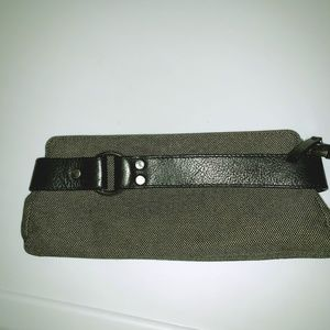Banana Republic Grey and Black Clutch